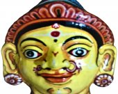 Papier Mache Mask of Draupadi