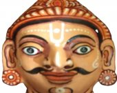 Papier Mache Mask of Sahadev