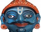 Papier Mache Mask of Arjun