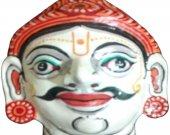 Papier Mache Mask of Yudhisthir