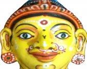 Papier Mache Mask of Goddess Sita