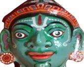 Papier Mache Mask of Lord Ramachandra