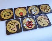 Handmade Bioshock Plasmids coaster set