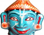 Papier Mache Mask of Lord Vishnu