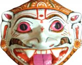 Papier Mache Mask of Goddess Laxmi