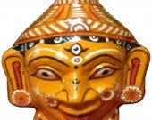 Papier Mache Mask of Goddess Durga