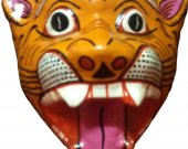 Papier Mache Mask of Tiger