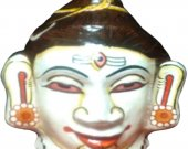 Papier Mache White Mask of Lord Shiva