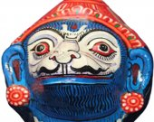 Papier Mache Mask of Jambabana (Light Blue)