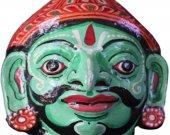 Papier Mache Mask of Ardhanareswar