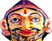 Papier Mache Brown Mask of Parshuram