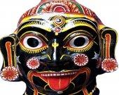 Wearable Papier Mache Mask of Goddess Kali
