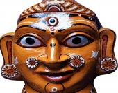 Wearble Papier Mache Mask of Goddess Durga