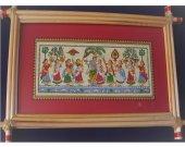 Wall Hanging Painting Of Krishna Leela (Rasa Leela)