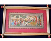 Wall Hanging Painting Of Krishna Leela (Mathura VIjay)
