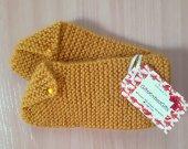 Hand Knit Slipper Socks, Warm Slipper Socks,Wool Slipper Socks, Slipper Socks for Womens, Warm House Slipper Socks
