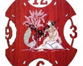 Pattachitra Style Wall Clock