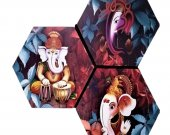 Ethnic Ganesha Showpiece Wall Print