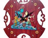Pattachitra Style Wall Clock (Maroon)