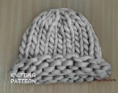 Chunky Knit Hat Pattern, Knitting Pattern Hat for Women, Easy Knitting Patterns, Winter Hat Knit, Hat Knit Woman