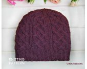 KNITTING PATTERN Hat for Women, Hand Knit Hat Pattern, Easy Knitting Patterns for Hat, Knit Hat Pattern