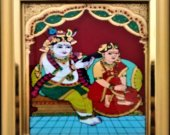 A Tanjore Painting of  Krishna & Radha