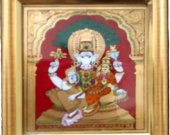A Tanjore Painting of Lord Ganesh