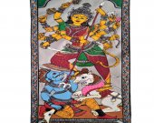 A Pattachitra Painting of Goddess Durga