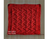 KNITTING PATTERN Dishcloth, Knit Dishcloth Pattern PDF, Beginner Knit Dishcloth Pattern, Knit Washcloth Pattern