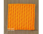KNITTING PATTERN Dishcloth, Beginner Knit Dishcloth Pattern, Knit Washcloth Pattern, Housewarming gift