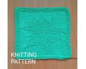 KNITTING PATTERN Dishcloth, Beginner Knit Dishcloth Pattern, Easy Knit Dishcloth Patter, Knit Gift Pattern