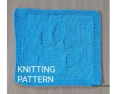 KNITTING PATTERN Dishcloth, Beginner Dishcloth Knit, Knit Decor Kitchen, Best Friend Knitting