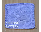 KNITTING PATTERN Dishcloth, Easy Knit Dishcloth Pattern, Knit Decor Kitchen, Housewarming Gift