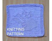 KNITTING PATTERN Dishcloth, Easy Knit Dishcloth Pattern, Knit Decor Kitchen, Housewarming Gift