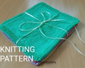 Knitted Dishcloth Pattern Combo PDF File, Knitting Pattern Dishcloths in 5 designs, Beginner Knit, Knitted Decor