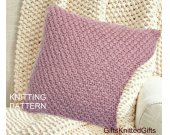 KNITTING PATTERN Pillow Covers 20x20, Beginner Knit Cushion pattern, Knit Pillow Pattern, Knitted Decor