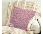 KNITTING PATTERN Pillow Covers 20x20, Beginner Knit Cushion pattern, Knit Pillow Pattern, Knitted Decor
