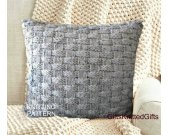 KNITTING PATTERN Pillow Covers 20x20, Easy Knit Cushion pattern, Knit Pillow Pattern, Knitted Decor