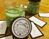 Peppermint and Eucalyptus 8oz Soy Candle. Mason Jar with Lid