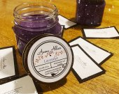 Lavender 8oz Soy Candle. Mason Jar with Lid | Vegan Friendly Candle