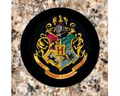 Hand Made Harry Potter Inspired Hogwarts School Crest Coaster Set