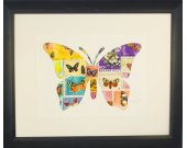 "Vintage Postage Stamp Art - ""Butterfly"""