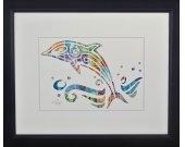 "Vintage Postage Stamp Art - ""Dolphin"""