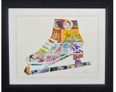 """Vintage Postage Stamp Art - """"Ice Skate"""""""