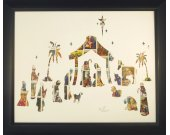 "Vintage Postage Stamp Art - ""Nativity Scene"""