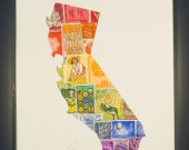 "Vintage Postage Stamp Art - ""State of California"""