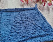dishcloths knit, handmade dishcloths, Deathly Hallows dishcloths