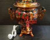 "Russian samovar electric ""Strawberry"" 1983,3L,220V."