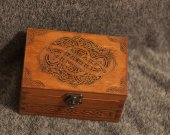 Celtic Dragons themed wooden jevelery box/casket
