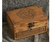 Celtic triskel themed wooden jevelery box/casket